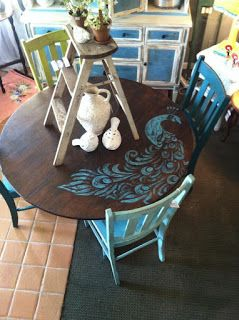Sisters of the Wild West: Peacock LOVE! I love this peacock design....it would look great on my antique dining table!