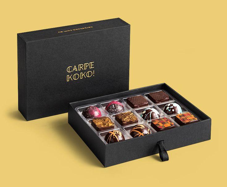 CARPE KOKO! Ambrosia Mix - 12 piece chocolate gift box. Buy online for delivery Australia wide www.carpekoko.com