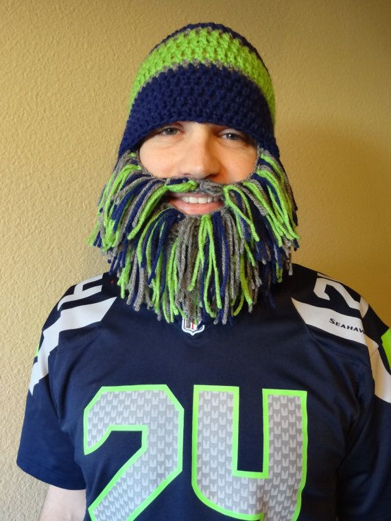 NFL team inspired crochet hat beanie with by PennysCrochetCloset