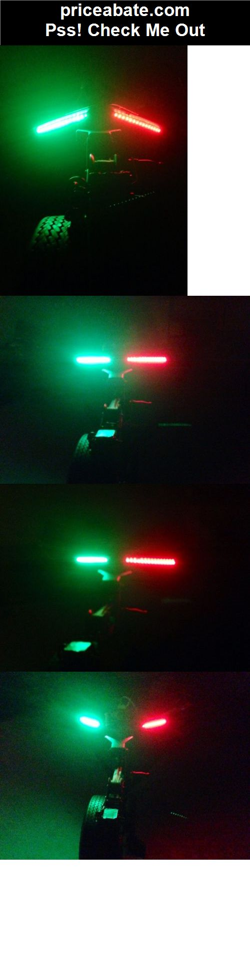 """Bow LED 5"""" WATERPROOF Red Green Navigation Light Marine Boat 12V Fishing Jon - #priceabate! BUY IT NOW ONLY $11.12"""