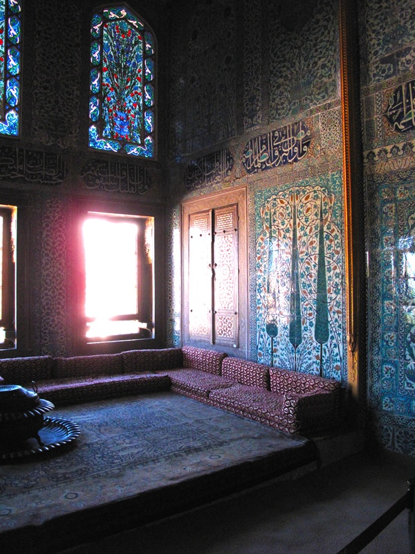 The Harem at Topkapi Palace, Istanbul (photo by Justina Blakeney).  Soft natural light.