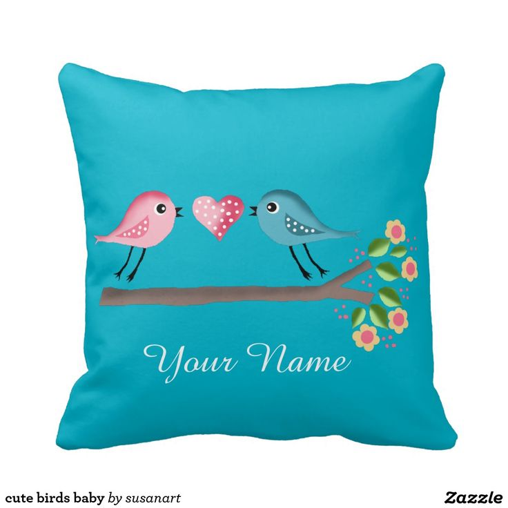 Tweety Bird Throw Pillow : 78+ images about Bird Throw Pillows on Pinterest Watercolors, Throw pillows and Blue throw pillows