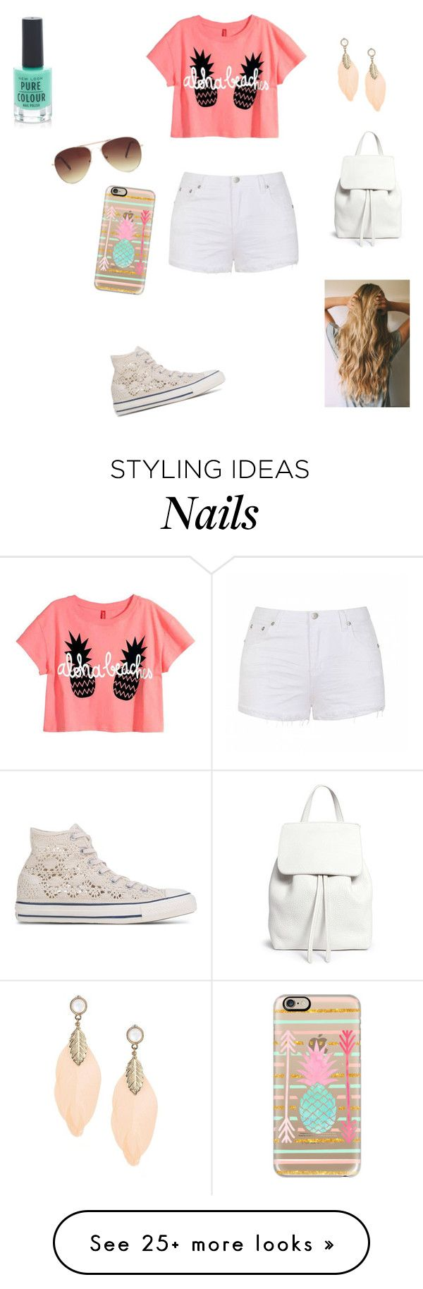 """Casual No.52"" by sharifabakhtani on Polyvore featuring Ally Fashion, Converse, Mansur Gavriel, Forever 21, New Look and Casetify"