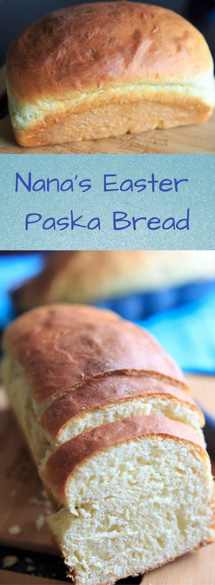 Easter Paska Bread - My Nana's recipe for this Eastern European egg bread. I look forward to making this all year!
