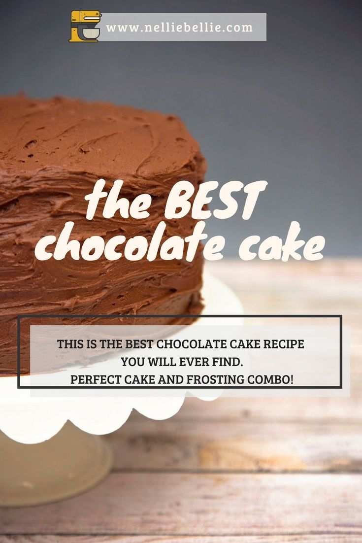 This is the BEST Chocolate cake and frosting you will ever make. A simple recipe that you will use again and again.