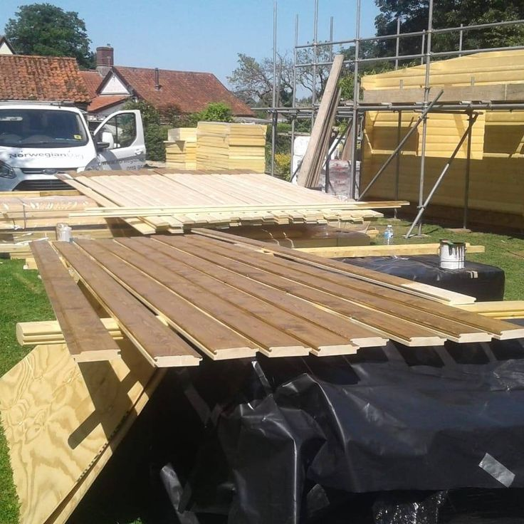 These Stained Boards Are Ready To Go On The Roof! 🏗️ Like