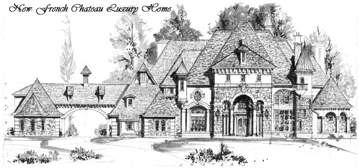 Houston luxury french chateau manor house floor plans for French chateau home plans