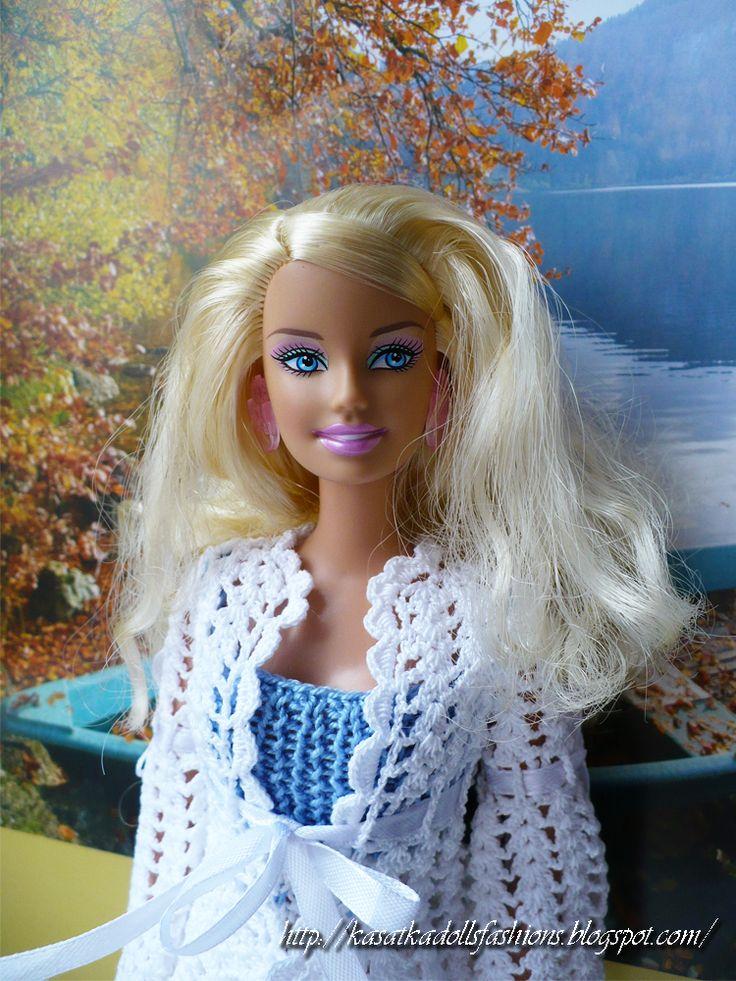Jacket with pineapple for Barbie dolls вязание крючком для кукол барби, пиджак/халат с узором ананас, платье спицами для куклы барби