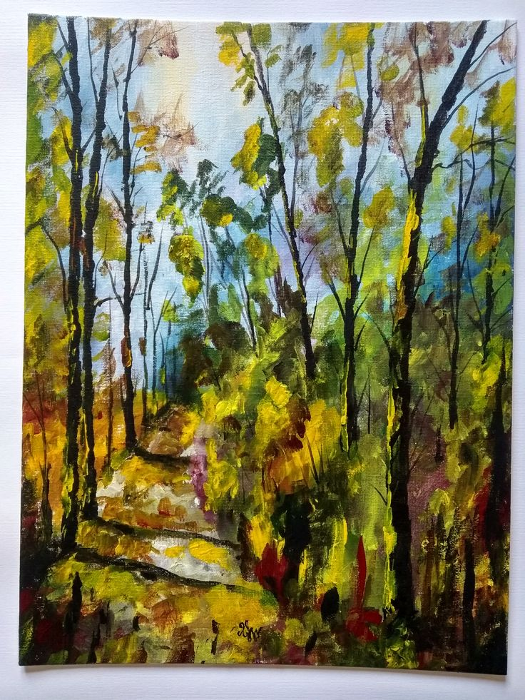 Acrylic Painting / Handmade / Gift / Wall Hanging / Home Decor / Landscape