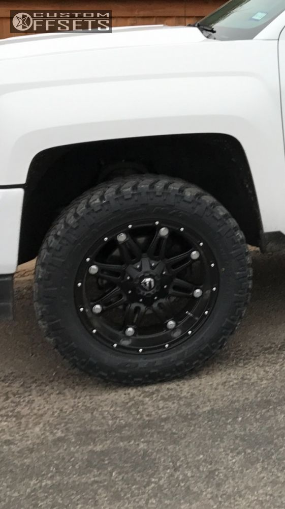 8 2016 Silverado 1500 Chevrolet Leveling Kit Fuel 1 Black Aggressive 1 Outside Fender