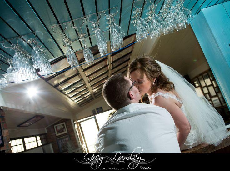 Creative wedding photo at a beach wedding in Cape Town by Greg Lumley