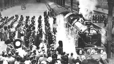 King George Vi Funeral | George VI's coffin was brought to Windsor by steam train hauled by the ...