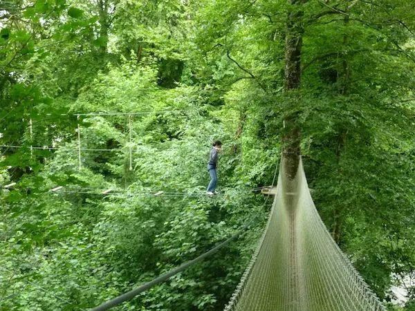 Ecopark Adventures in Penzé near Morlaix Bay Brittany France Treetop Tarzan activities