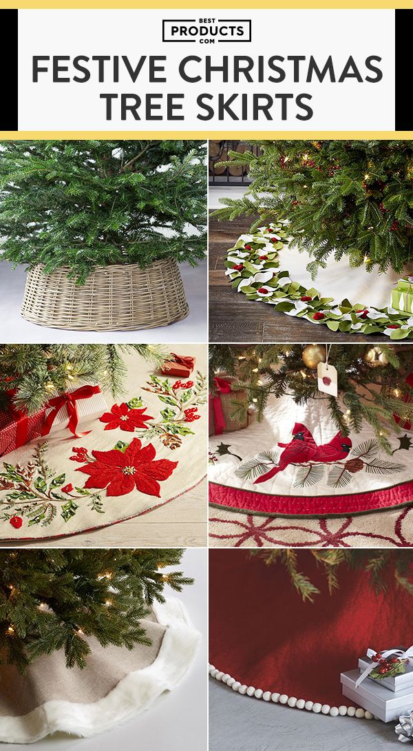 10 Christmas Tree Skirts And Collars To Dress Your In Its Holiday Best