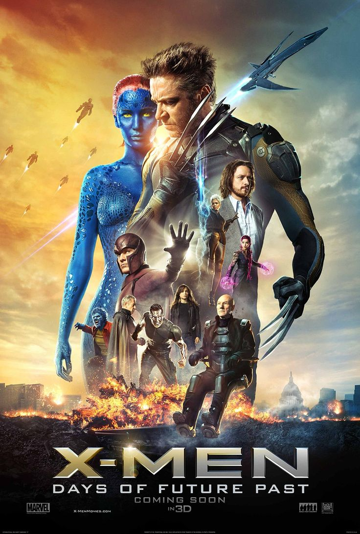 X-Men: Days of Future Past (2014) PG-13 - Stars: Patrick Stewart, Ian McKellen, Hugh Jackman.  -  The X-Men send Wolverine to the past in a desperate effort to change history and prevent an event that results in doom for both humans and mutants.  -  ACTION / ADVENTURE / SCI-FI