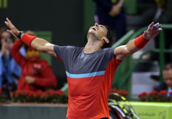 Qatar Open - Rafael Nadal beats Gael Monfils 6-1 6-7(5) 6-2