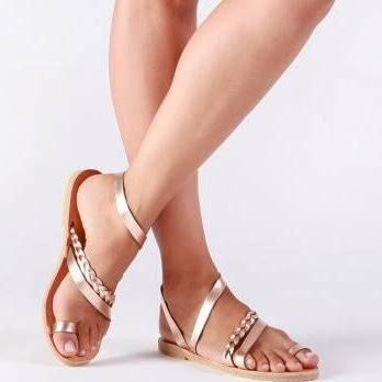 Greek sandals, Sandals, Gladiator sandals, Leather sandals, Rose gold sandals, Strappy sandals ,Summer sandals, Wedding sandals, SERENADE