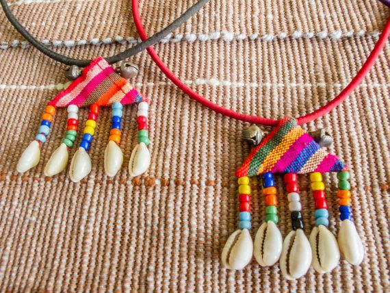Lisu Rainbow Sea shell Necklace/ Ethnic / Hippie by CHEZMOIMYHOME