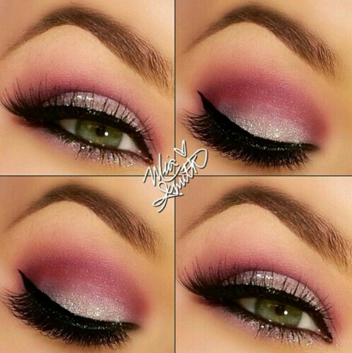 I love this! I do this all the time with my blush in the crease and silver foiled shadow on the lif