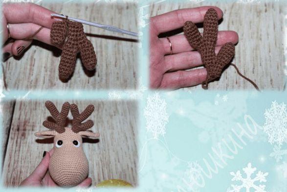 Олень Рудольф амигуруми: схема вязания игрушки | AmiguRoom