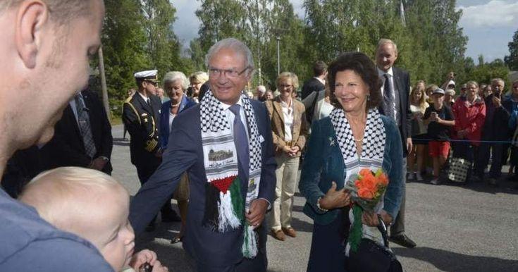 Swedish royalty get conned to pose with anti-Israel keffiyeh ~ Elder Of Ziyon - Israel News