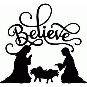 Silhouette Design Store - View Design #70058: believe nativity flourish