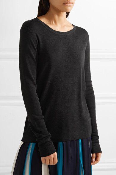 Diane von Furstenberg - Kylee Open-back Merino Wool And Silk-blend Sweater - Black - x small