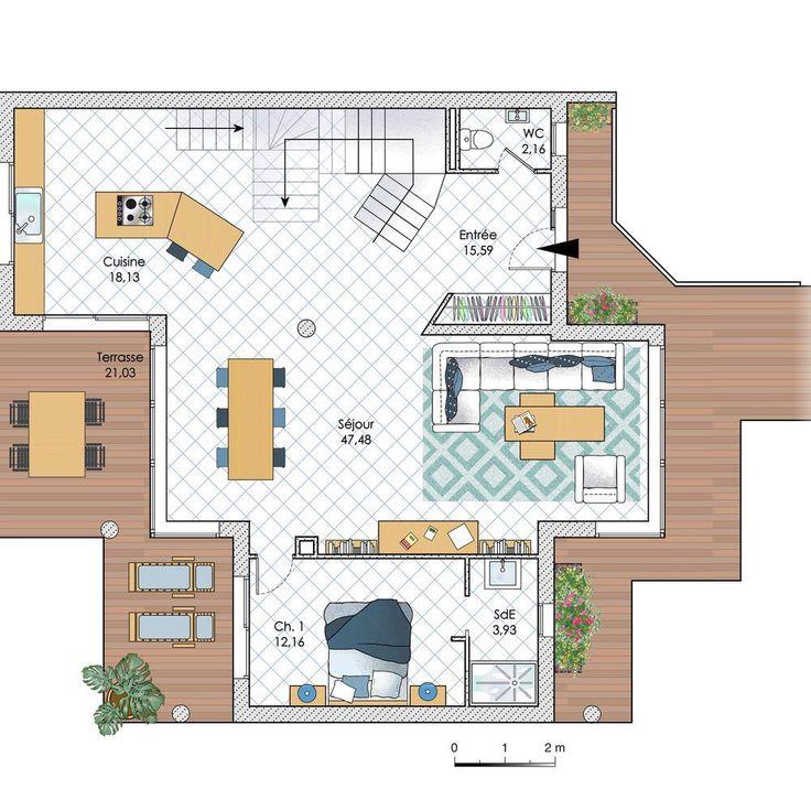 185 best 마이드림 하우스 images on Pinterest Floor plans, House - plan d une maison simple
