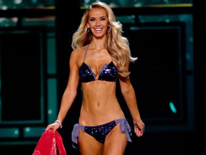 Miss Oklahoma Olivia Jordan competes in the swimsuit