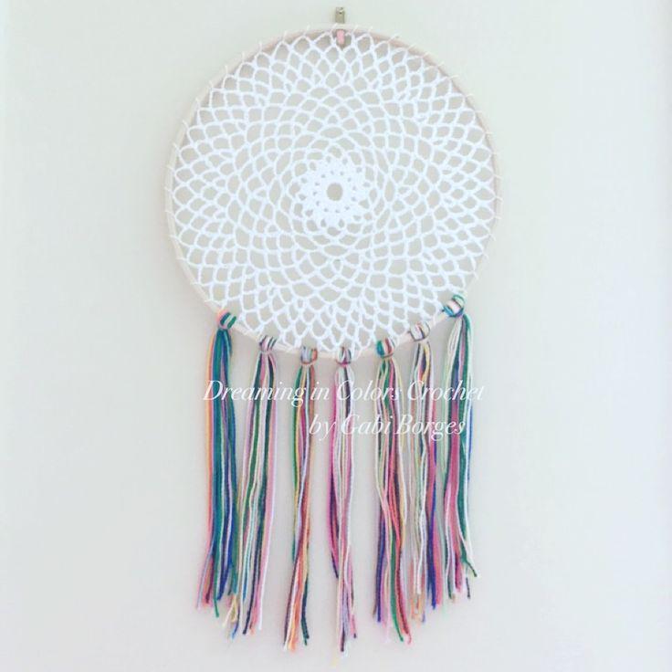 Loved this one.  Amei esse!! #dreamingincolors #dreamcatcher #crochet #art #arte #handmade #stjohns #newfoundland #stjohnsnl #artesanato #craft #yyt #canada