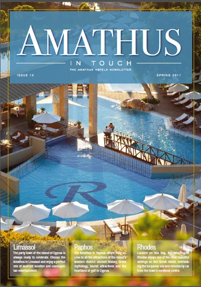 Amathus In-Touch Newsletter Spring '11. LimassolCyprus