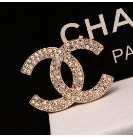 シャネル ギッシリ ダイヤモンド象眼 キラキラ レディース ブローチ 高級 ファッション 女性 アクセサリー
