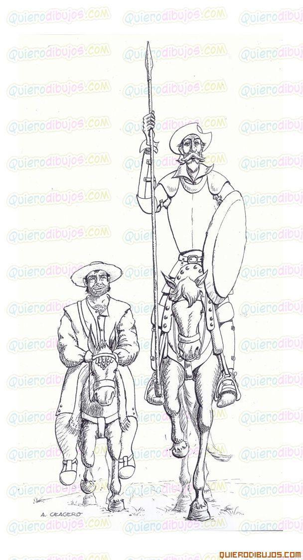 dibujos-quijote-sancho-panza.