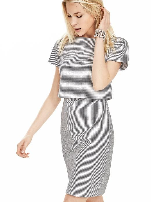 Seersucker Layered Dress | Banana Republic | $138