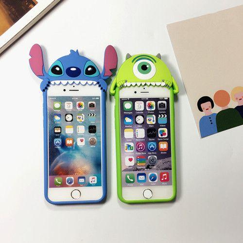 Disney Stitch Cartoon Hart Silikon Handyhülle für iphone 6/ 6 plus und Samsungs7/s7edge - elespiel.com