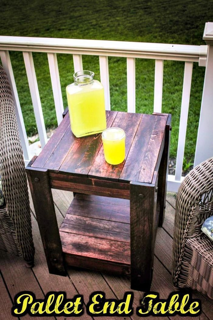 Reclaimed Pallet End Table - 150 Best DIY Pallet Projects and Pallet Furniture Crafts - Page 16 of 75 - DIY & Crafts