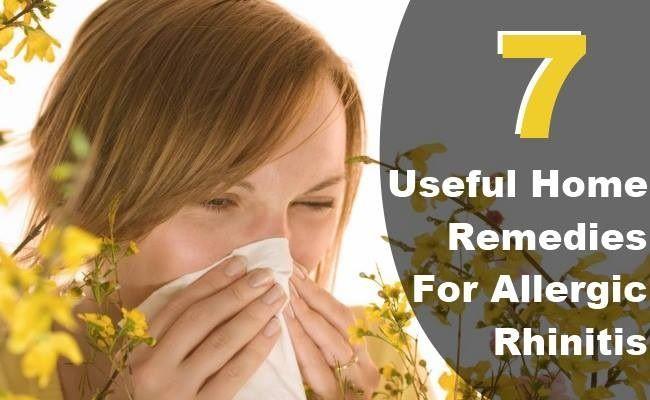 7 Useful Home Remedies For Allergic Rhinitis