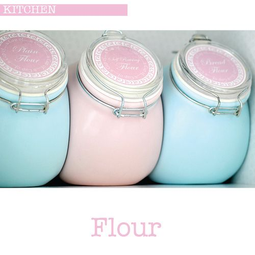 Nigella Lawson Flour Jars - so pretty!
