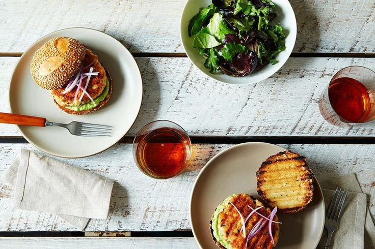 Salmon Burgers with Avocado Aioli recipe on Food52 - Just Substitute the Bread 😏