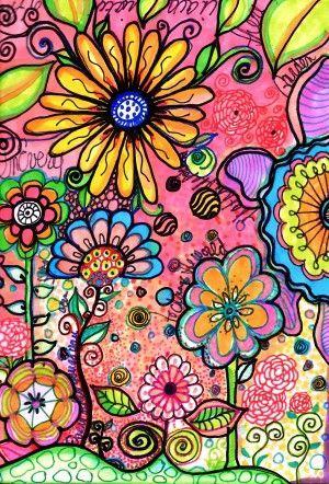 lejardine1egdp  another doodle for the kids to try , FLOWER DOODLES