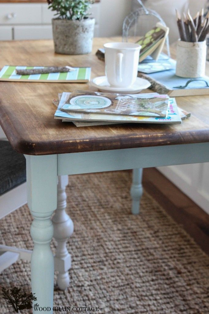 Two Toned Table by The Wood Grain Cottage