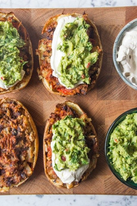 Loaded Mexican-Style Potato Skins. #Vegan #GlutenFree #SoyFree