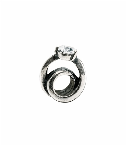 Amore & Baci silver bead - solitaire ring