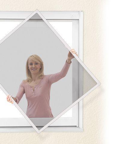 JAROLIFT®™ Insektenschutz Spannrahmen für Fenster bis 130 x 150 cm