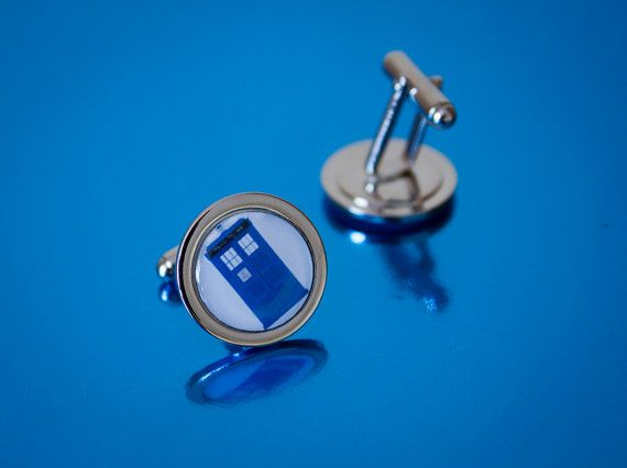 Set of Dr Who TARDIS Police Box Cufflinks by UnofficiallyOriginal