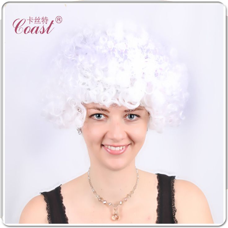 Halloween party afro wigs colorful christmas cosplay hairs clown funny wig new brazil football fans wigs QY-906545