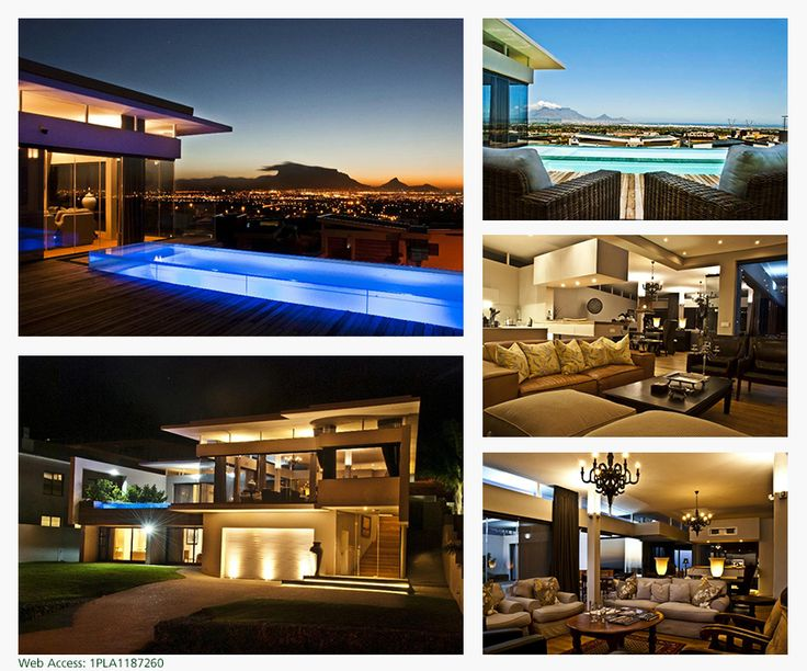 A beautiful home expressing flamboyant finishes, overlooking the best view in Cape Town. Enchanting deck and pool entertainment area.  Pure quality and style epitomize this home. This Pam Golding property is listed at R 8,750,000. CLICK IMAGE FOR MORE INFORMATION.