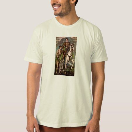El Greco's Saint Martin and the Beggar, circa 1600 T-Shirt - tap to personalize and get yours