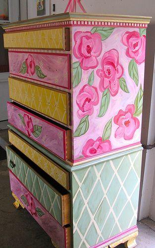 Sweet Little Girlu0027s Painted Dresser