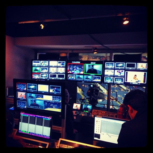 Behind the scenes look at the Oracle Arena control room prior to tipoff. #warriorsground